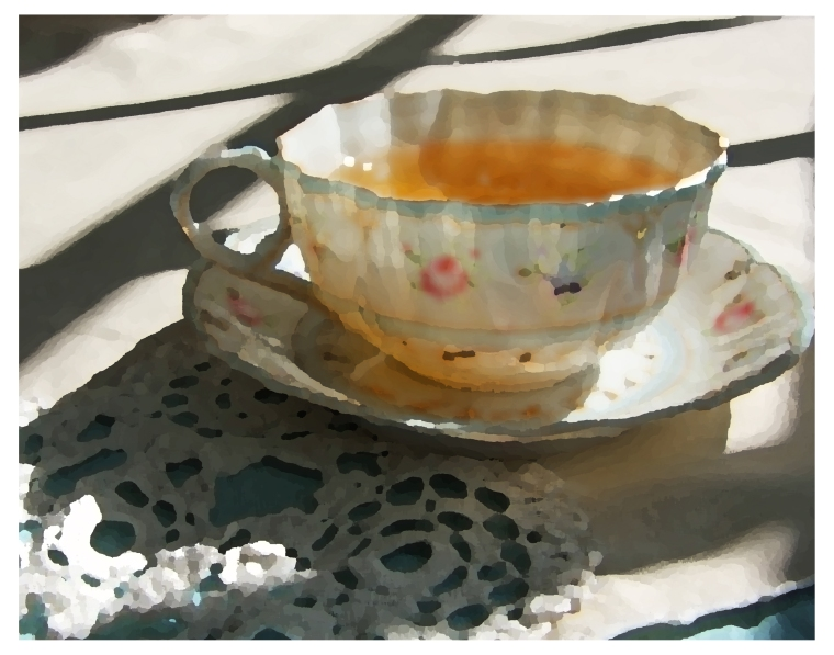 Tea Cup on Lace - Photo Painting