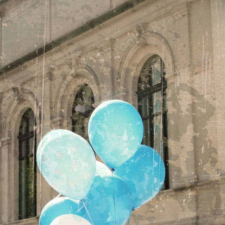 Blue Balloons in NYC